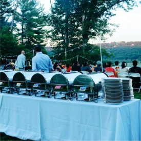 Outdoor Wedding Caterers for Shakespeare on the Hudson Weddings